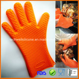 Guantes a prueba de calor del caucho de silicón del Bbq