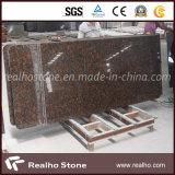 Partie supérieure du comptoir de cuisine de granit de Tan Brown de stratifié de construction préfabriquée de bonne qualité