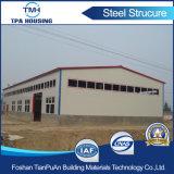 Casa prefabricada barata excepcional de la estructura de acero del acero con poco carbono de la calidad