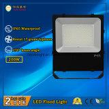 2016 luz de inundación al aire libre superventas de IP65 200W LED con Philips LED y la fuente de alimentación de Meanwell
