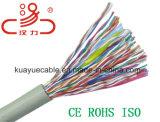 Cable del audio del conector de cable de la comunicación del cable de teléfono del alambre del alambre de gota 2X2X0.5cu+1.2steel/de cable de datos