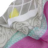 Echarpe femme imprimée imprimée 100% multicolore en mousseline de soie (AMA170609-8)