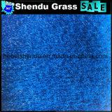 Densidade 16800tuft azul da cor 25mm da grama artificial do arco-íris