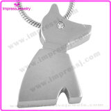 Ijd8185 Cheap Dog Shape 316L Creme de aço inoxidável Colar pingente Crystal Eye Pet Ashes Keepsake Holder