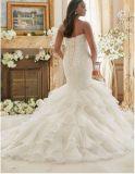 Сборок Organza Bridal платья 2017 венчания Ctd201