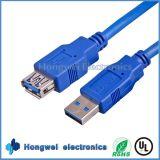 1.5 Reiner kupferner Mann USB3.0 m-5gbps Extensions-Daten USB-Kabel zum Weibchen USB-3.0