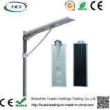 Installation facile 60W All-in Integrated Solar LED Street Light avec batterie au lithium