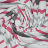 190gsm algodón / rayón / spandex hilados de distintos colores a rayas Gata Jersey