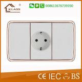 Interruttore bianco della parete di serie 3gang dell'interruttore elettrico