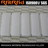 Etiquetas de papel de la frecuencia ultraelevada del pegamento RFID de la etiqueta engomada de la alta calidad de la antena de RFID para la ropa