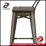 2016 новое Adeco металл Barstool 30 дюймов промышленный шикарный с твердым деревянным местом и низкой задней частью