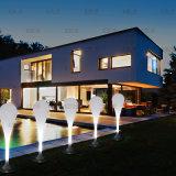 """현대 빛 LED 실내 옥외 42 """" 전기 스탠드 물 하락 램프"""