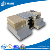 Giunto di dilatazione di alluminio a tenuta d'acqua della costruzione nella costruzione e nel bene immobile