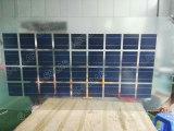 el panel solar doble de la cubierta de cristal 18V para el sistema 145W-155W de la azotea