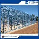 Taller/almacén prefabricados del panel de emparedado del marco de la estructura de acero