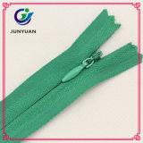 Zippers invisíveis de nylon da boa qualidade do Zipper de Finshed