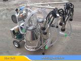 Завершите доильщика ведра коровы (бака молока вакуума Pump+SS, Pulsator, группы когтя, шланга)
