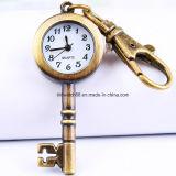Antique Bronze Key Pendant Pendente Relógio Relógio para crianças