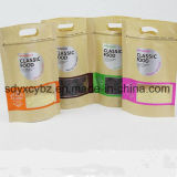 Kundenspezifischer Nahrungsmittelpackpapier-Fastfood- mit Reißverschlussbeutel/Nahrungsmittelverpackungs-Beutel
