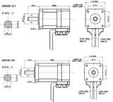 42HS motor servo de la C.C. de 2 fases para la máquina de coser