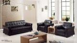 Conjunto seccional del sofá del cuero genuino de la sala de estar