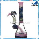 De rokende Waterpijp van het Glas met de Decoratie van de Bloem