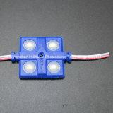 4SMD5630 노란 색깔 LED 주입 모듈 36*36는 LED 모듈을 방수 처리한다