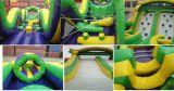 Gorila inflable del obstáculo del juego de los deportes de la gota gigante de la selva para la venta