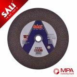 Roue à disque de découpage d'acier en métal de qualité et de fer de moulage