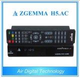 Decodificador Zgemma H5 da tevê do produto novo H. 265. C.A. DVB S2 + ATSC
