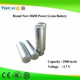 Cella di vendita calda dello Li-ione della batteria 18650 di potere di qualità 3.7V 2500mAh
