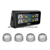 Sistema de vigilância da pressão de pneu do carro da fonte de alimentação solar TPMS com os quatro externos/sensor interno