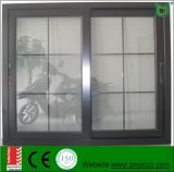 Doppeltes Glasschiebendes Aluminiumfenster mit Rasterfeld