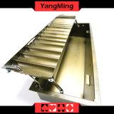 14 Reihen-rundes Chip-Tellersegment zwei Schicht mit Verschluss-Kasino-Schürhaken-Chip-Kasten-Gleitbetrieb Ym-CT14