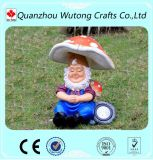 Gnome neuf de résine de décoration de jardin de modèle se reposant sur la lumière solaire de potiron