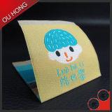 China hizo animal la escritura de la etiqueta tejida pequeño diseño para el vestir de los niños