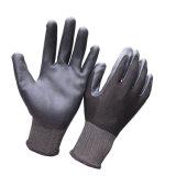 Перчатки серого нитрила Coated с белым Nylon вкладышем 13G