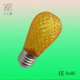 LED C7 E14 luz de la vela en color ámbar cubierta