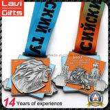 Известные изготовленный на заказ медали поднятия тяжестей России логоса льва сплава цинка