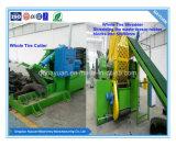 Linha de reciclagem automática de pneus e tubos para pó de borracha
