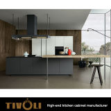 マットの黒い絵画食器棚Tivo-0175V