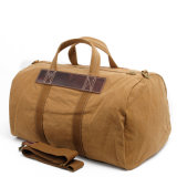 Redswan Canvas Leather Trim Travel Tote Duffel Shoulder Weekend Bag (RS-22120A)