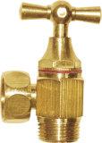 La vávula de bola de cobre amarillo con bisagras (puede ser el cromo plateado)