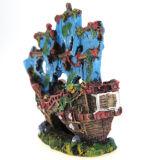 Retro Schip van de Decoratie van het aquarium voor de Ornamenten van de Hars van de Tank van Vissen