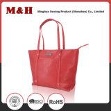 Saco de Tote do saco de couro das bolsas do desenhador da cor contínua de grande capacidade