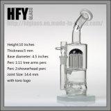 Glace de Hfy 10 pouces de Toro de conduite d'eau de fumage avec 11 pipes de barboteur de narguilé de Perc Shisha d'arbre de bras dans le narguilé courant