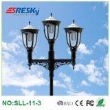 Lampe extérieure de jardin d'éclairage d'horizontal solaire de la lumière DEL de prix bas avec PIR
