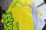Envelope impresso do selo do correio da cor plástico amarelo