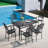 Tabella pranzante di vendita di disegno moderno del giardino di alluminio caldo di rettangolo con il prezzo ragionevole