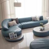 Sofá moderno de la esquina de la L-Dimensión de una variable del hogar del estilo con el cuero de la PU (UL-NSC011)
